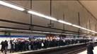 Adeptos do Paris SG tomaram de assalto o metro de Madrid
