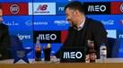 Tocou o hino do FC Porto na conferência e Conceição 'desmanchou-se' a rir