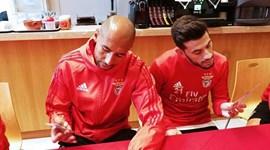 Jogadores das equipas A e B do Benfica elegem melhor onze de 2017