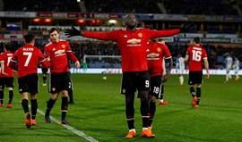 Bis de Lukaku coloca Man. United nos 'quartos' da Taça de Inglaterra