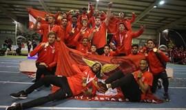 Benfica campeão nacional masculino de pista coberta
