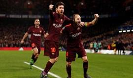 Golo de Messi dá ligeira vantagem ao Barcelona