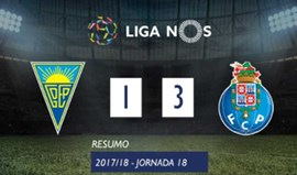 O resumo do Estoril-FC Porto (1-3)