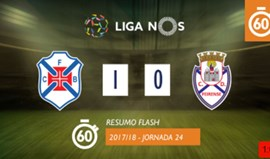 O resumo do Belenenses-Feirense (1-0)
