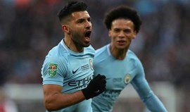 Final da Taça da Liga inglesa: Manchester City-Arsenal, 2-0