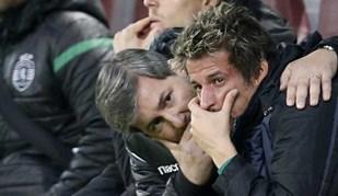 Coentrão estava em lágrimas e foi consolado por Bruno de Carvalho