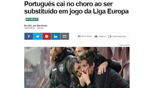 Lágrimas de Coentrão tiveram eco em Espanha e no Brasil