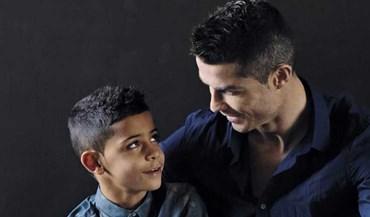 Ronaldo e o filho dão cartas em Itália