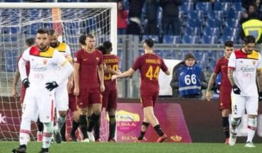 Roma salta para o quarto posto com goleada ao último