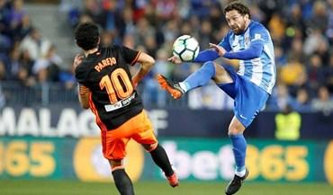 Valencia vence em Málaga com golos na fase final