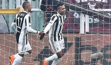 Golo solitário de Alex Sandro vale 3 pontos para a Vecchia Signora