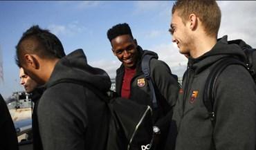 Barcelona já está em Londres para o jogo com o Chelsea