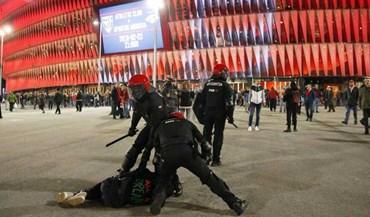 As imagens dos confrontos em Bilbau