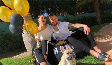 Namorada de Seferovic levou os balões e fez a festa