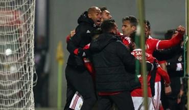Segundo golo do Benfica comemorado de forma nunca vista esta época
