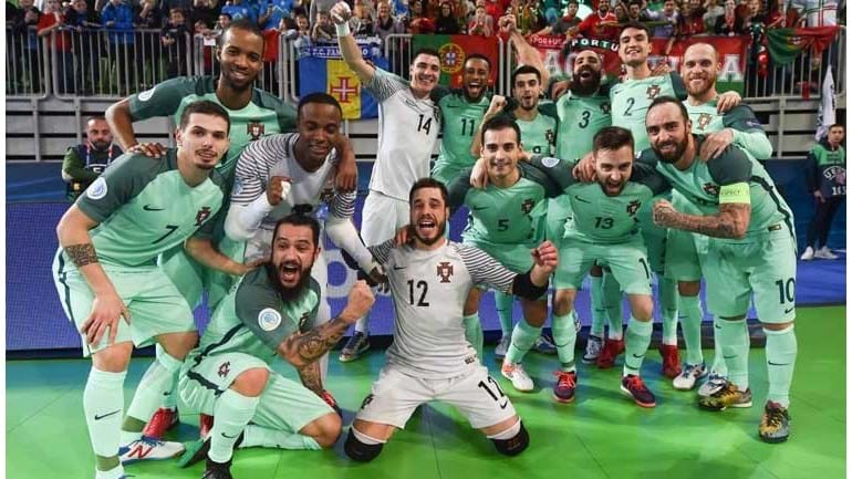 Portugal sagra-se campeão europeu de futsal, pela primeira vez