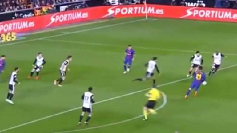 Noite para esquecer de André Gomes: nem Messi aguentou...