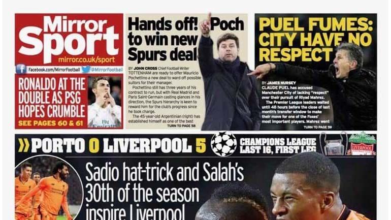Imprensa inglesa rejubila com goleada do Liverpool no Porto