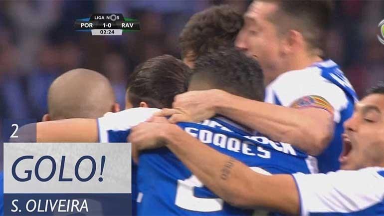 85 segundos de jogo e... golo de Sérgio Oliveira!