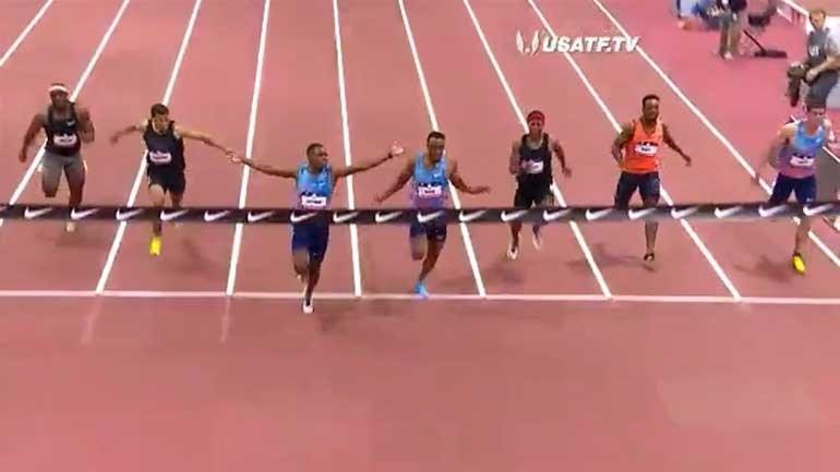 Christian Coleman voou para novo recorde mundial dos 60 metros