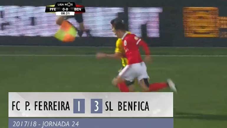 O resumo do P. Ferreira-Benfica (1-3)