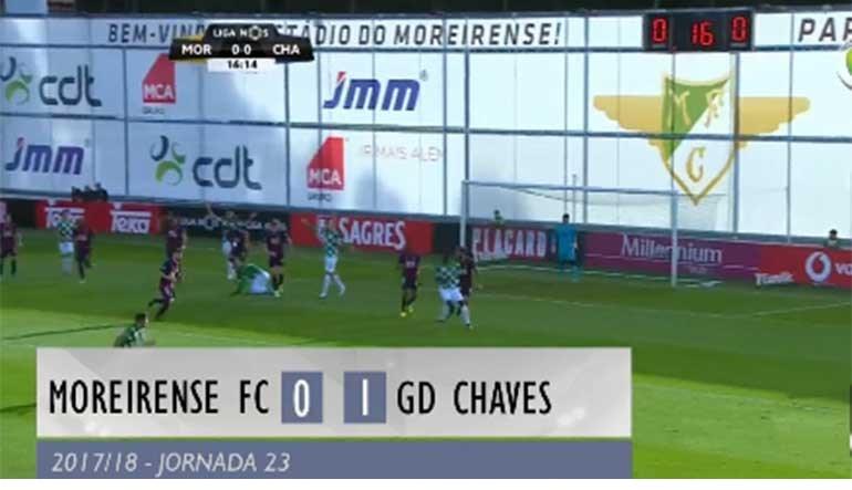 O resumo do Moreirense-Chaves (0-1)