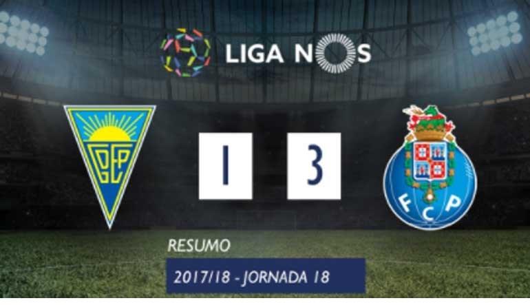 O resumo do Estoril-FC Porto (1-3)