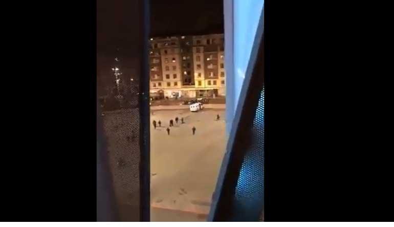 O momento em que os ultras do Spartak roubaram... uma carrinha da polícia