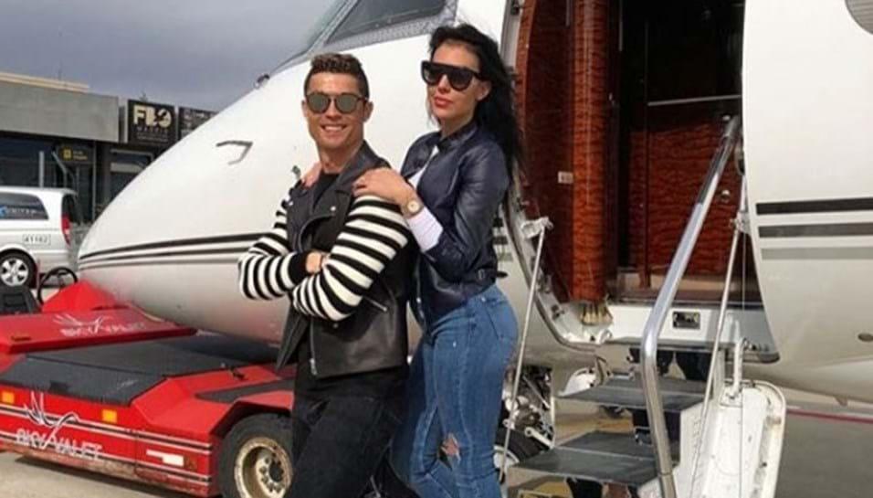 Cristiano Ronaldo e Georgina Rodríguez Jato do casal teve como destino... Lisboa!