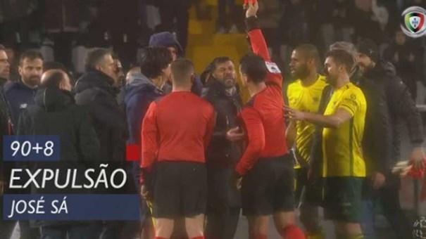 CD castiga José Sá com dois jogos de suspensão