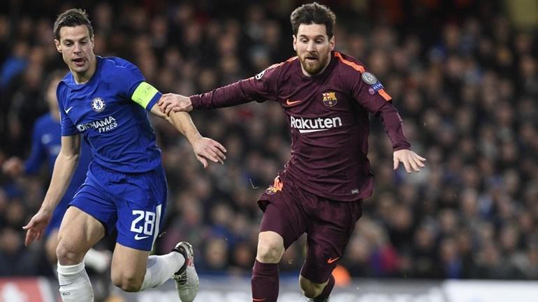 Técnico do Chelsea, Antonio Conte elogia Lionel Messi e critica arbitragem
