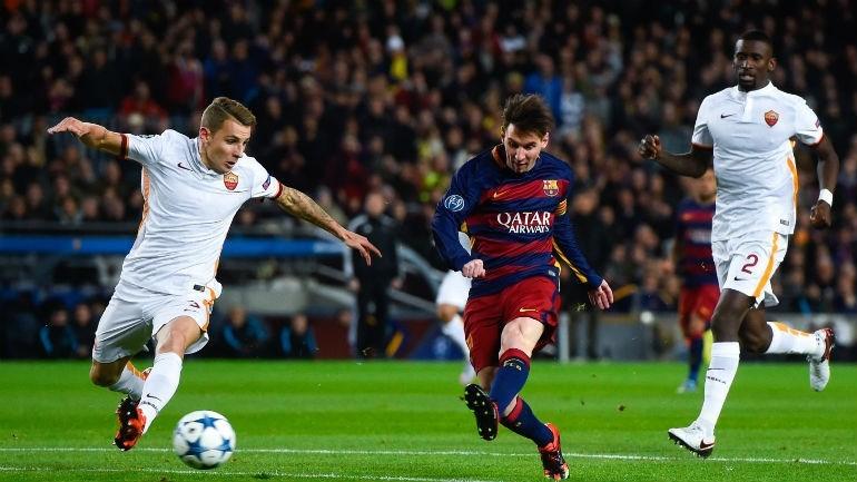 Barcelona goleia a Roma e encaminha vaga — Liga do Campeões