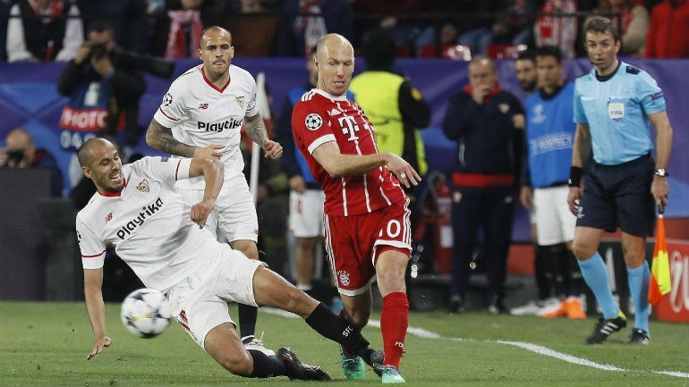 Bayern elimina Sevilha nos quartos de final da Liga dos Campeões