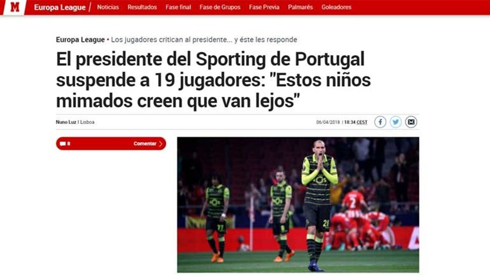 Resultado final: Sporting-FC Paços de Ferreira, 2-0