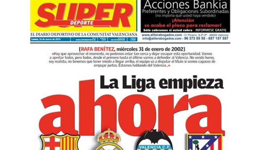 Em Valência já se sonha com o título - Espanha - Jornal Record 12ca35d3de583