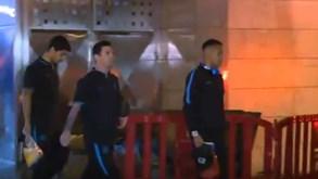 Messi, Neymar e Suárez com cara de poucos amigos após eliminação