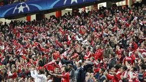 A despedida arrepiante aos jogadores do Benfica