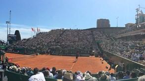 Bernardo Silva foi ver Roger Federer vencer
