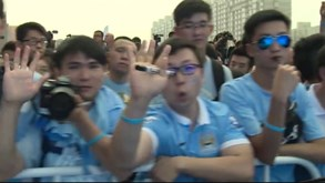 Manchester City chega a Pequim e... é isto!