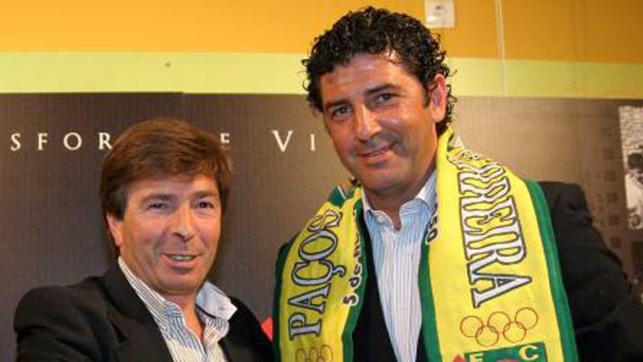 Rui Vitória em 2010, apresentado no P. Ferreira com Carlos Barbosa