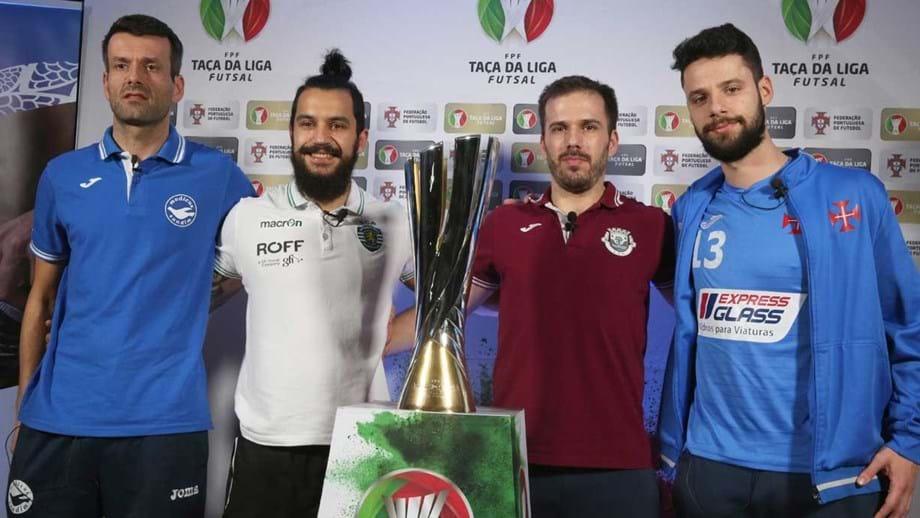 Taça da Liga  Quarteto de olhos no troféu - Futsal - Jornal Record 7b01113b1834a