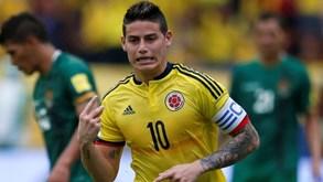 James dá triunfo à Colômbia frente à Bolívia
