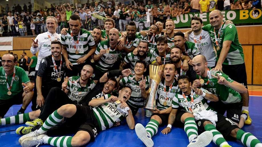 Sporting sagra-se bicampeão nacional - Futsal - Jornal Record 80cf5b924752e