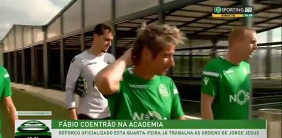Assim foi o primeiro treino de Coentrão pelo Sporting - Vídeos - Jornal  Record c6f1f66712389