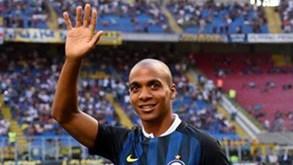 A mensagem de João Mário que surpreendeu os adeptos do Inter