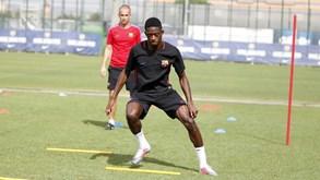 O primeiro treino de Dembélé no Barcelona