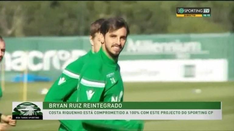 Bryan Ruiz reage ao perdão: «De volta ao Sporting com o compromisso de sempre»