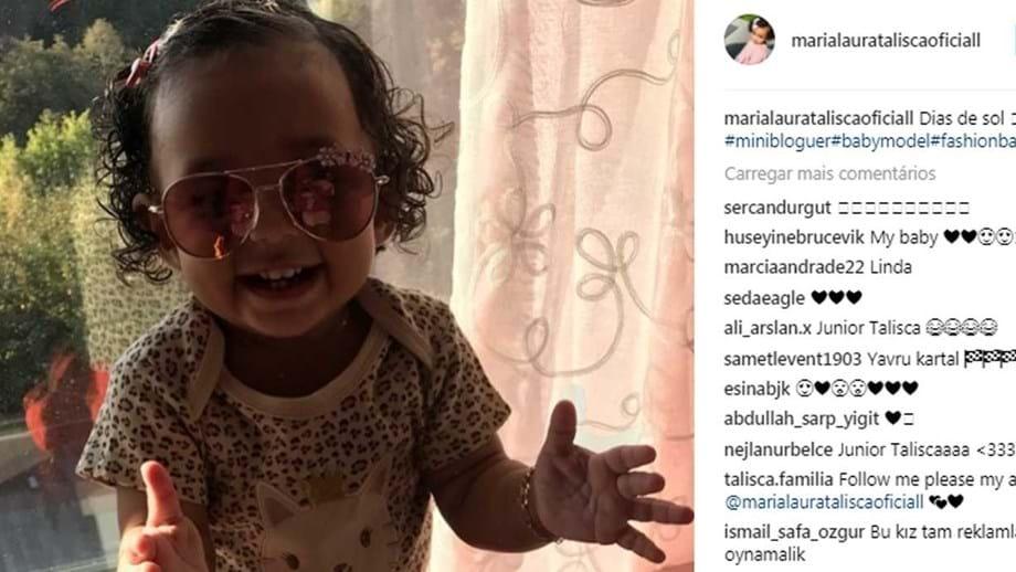 Depois de Cristianinho, filha de Talisca também já tem conta de Instagram