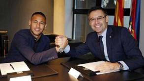 Contrato secreto 'trama' Bartomeu: Neymar foi garantido por mais de 100 milhões de euros