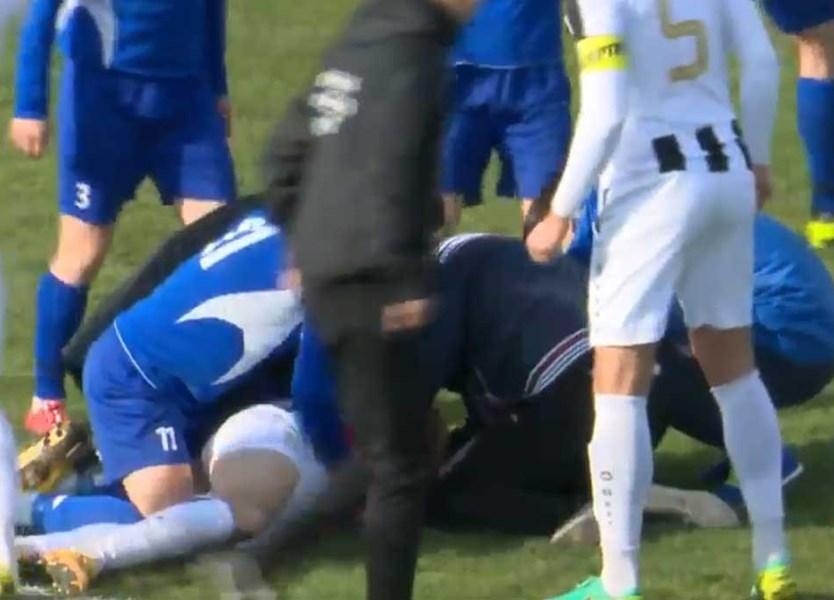 cd191e3615 Imagens chocantes  jogador croata morre em campo - Vídeos - Jornal Record